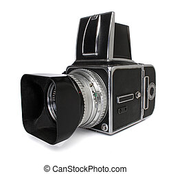 Medium format camera, with clipping path