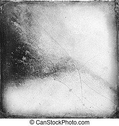 Medium format film frame with grain