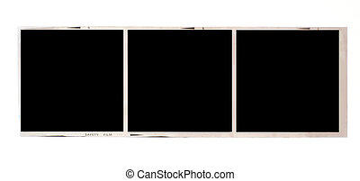 Medium format film - Three frames of 6x6 medium format black...