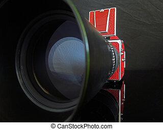Medium format photo camera.