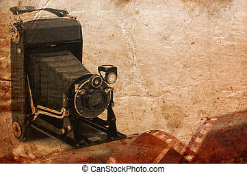 medium format retro camera vintage background