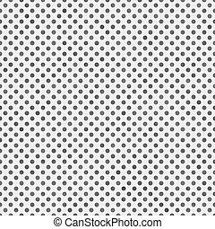 Medium Gray and White Small Polka Dots Pattern Repeat...