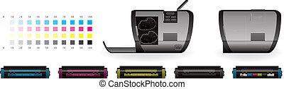 Laser Jet Printer Side View - Medium Home Color Photo Laser ...