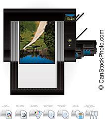 Laser Jet Printer Top View - Medium Home Color Photo Laser ...
