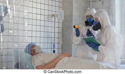 Fever measure in the hospital. Corona virus concept.
