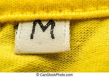 Medium Size - Macro Photo Of A Clothing Label Showing Size M...