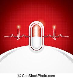 medizin, anti, droge, hintergrund