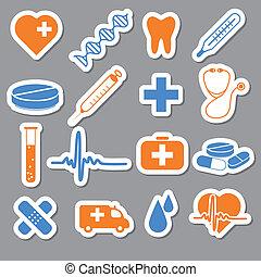 medizin, aufkleber