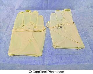 medizin, chirurgische handschuhe