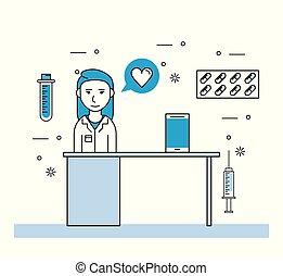 medizin, frau, forschung