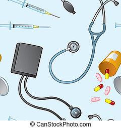medizin, gegenstände, seamless