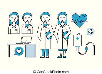 medizin, gemeinschaftsarbeit, forschung