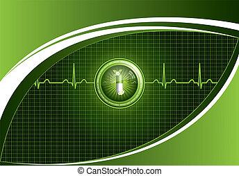 medizin, grüner hintergrund