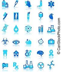 medizin, healthcare, heiligenbilder, sammlung, symbole, satz