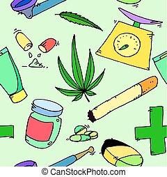 medizin, marihuana, muster