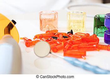 medizin, mehrere, werkzeuge, dental
