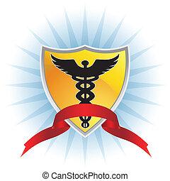 medizin, schutzschirm