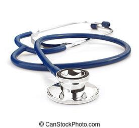medizin, stethoskop, weißes