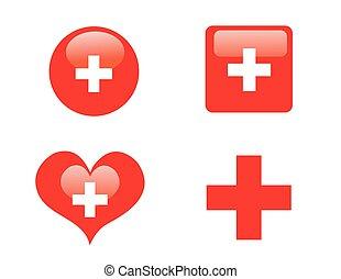 medizin, themed, sammlung, heiligenbilder