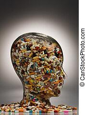 medizin, und, tabletten, zu, heilung, krankheit