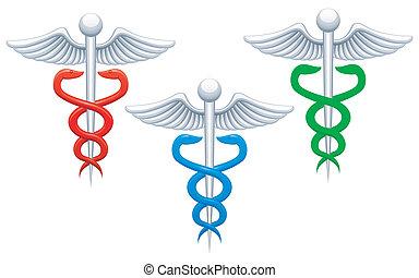 medizin, zeichen.
