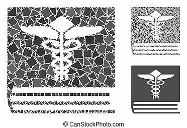 medizin, zusammensetzung, holperig, buch, posten, ikone