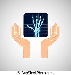 medizinhände, handröntgenaufnahme, ikone