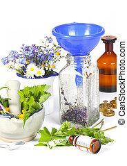medizinische kräuter, homöopathie