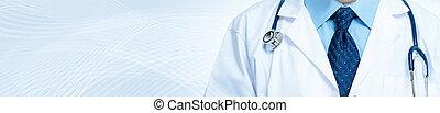 medizinischer doktor, mit, stethoskop