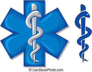 medizinisches symbol, caduceus, schlange