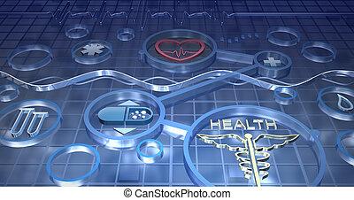 medizinprodukt, abstrakt, hintergrund