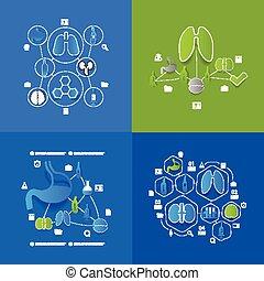 medizinprodukt, aufkleber, infographic