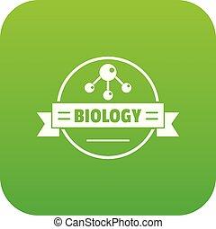 medizinprodukt, biologie, vektor, grün, ikone