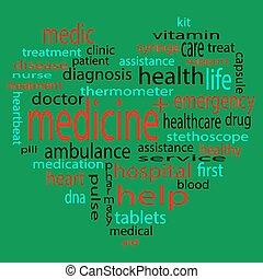 medizinprodukt, herz, etikett, form