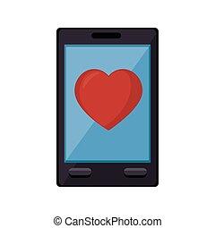 medizinprodukt, herz, smartphone, online