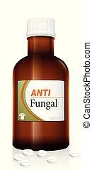 medizinprodukt, phiole, fungal, anti, flasche