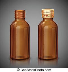 medizinprodukt, sirup, flasche