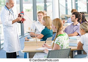 medizinprodukt, studenten, professor