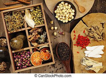medizinprodukt, tee, blume, kräuter, chinesisches