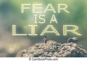 medo, mentiroso