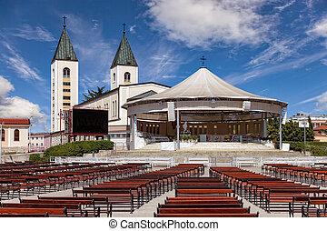 Medugorje church - Saint James church of Medjugorje in...