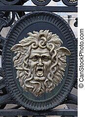 Details of a door in Dijon, France
