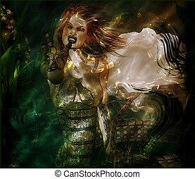 Medusa in modern digital art style