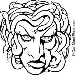 Medusa Line Art