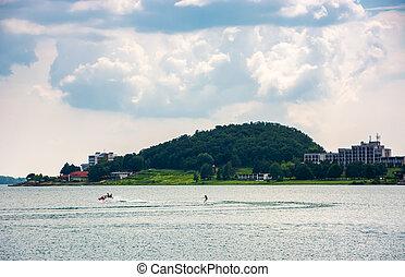 Medvedia mountain over the Zemplinska Sirava lake, Slovakia....