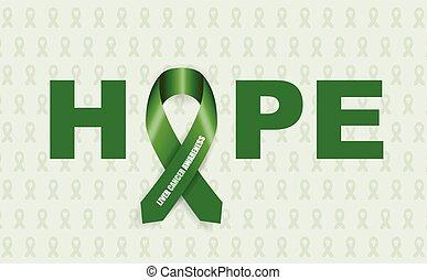 medvetenhet, band, cancer, lever