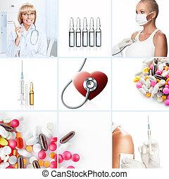 medycyna, collage