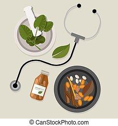 medycyna, tradycyjny, alternatywa, kasownik