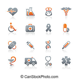 medycyna, &, wrzosiec, troska, ikony