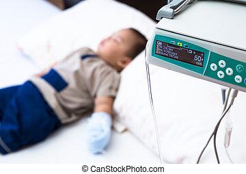 medyczna troska, pacjent, dziecko